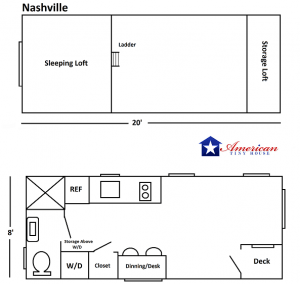 20' American Tiny House Nashville v2 P1
