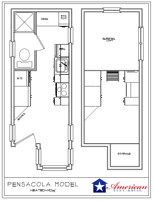 Nashville Back American Tiny House. Nashville ATH Floor Plan