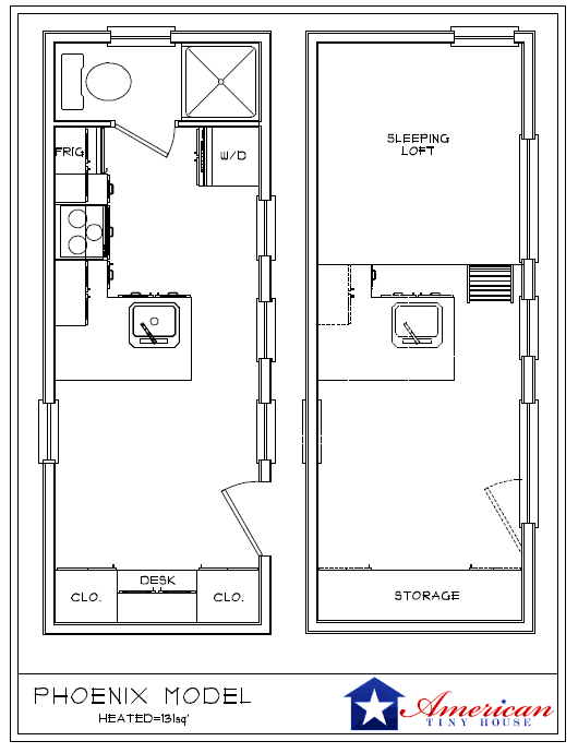 Tiny House On Wheels Plans tiny house recreational vehicle Phoenix American Tiny House Floorplans