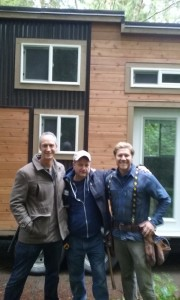 John, Zach of Tiny House Nation with Andy