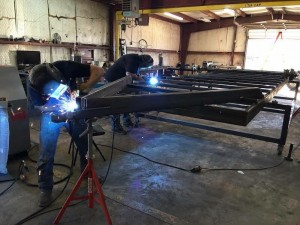 American Tiny House Trailer Being Built Welded