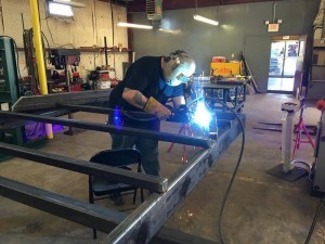 American Tiny House Trailer Welding