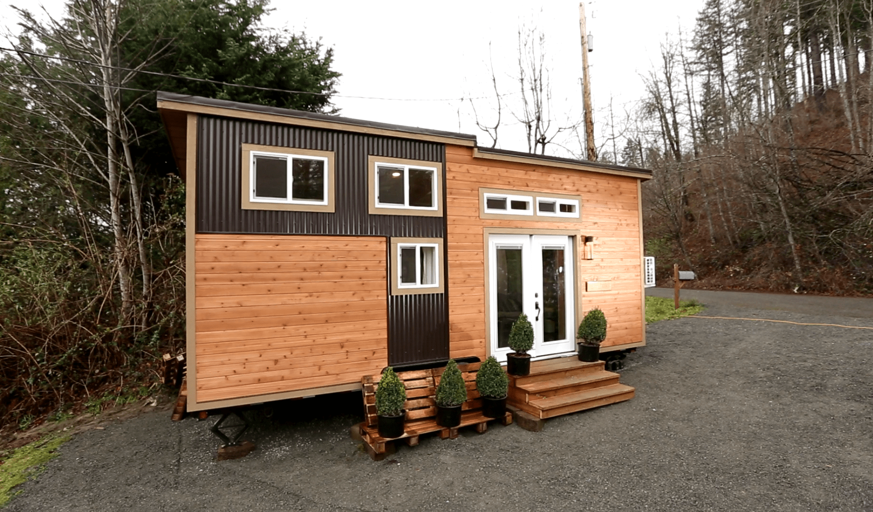 Everett american tiny house for sale american tiny house for Small house exterior