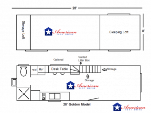 28' Golden Model floor plan