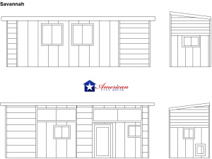 Savannah Elevation American Tiny House