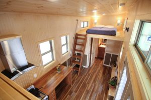 Houston Model - Interior view to loft - American Tiny House